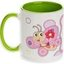 Two colors mug. Pale green inside and the handle