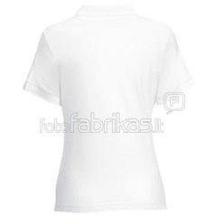 Women's polo shirt with your photos, notes, white