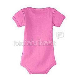 """Kūdikių """"body"""" marškinėliai su Jūsų nuotrauka, užrašu, rausvi"""