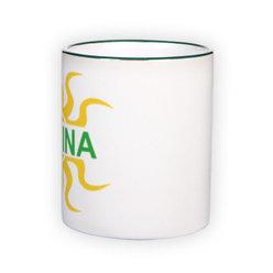 Puodelis spalvota rankenėle. Žalias (300 ml)