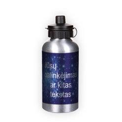 Sportinis buteliukas vandeniui. Sidabrinis (500 ml)