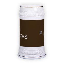 Keramikinis bokalas su auksine juostele (500 ml)
