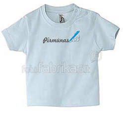 Baby T-shirt with your photos, notes, blue