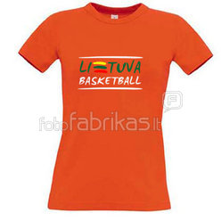 Women's T-shirt with your choice of photos, notes, orange