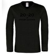 Vyriški marškinėliai ilgomis rankovėmis su Jūsų nuotrauka, užrašu, juodi