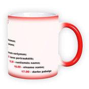 Magic mug. Red (300 ml)