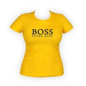 Woman T-shirts with photo (yellow)
