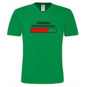 Vyriški marškinėliai V formos apykakle su Jūsų nuotrauka, užrašu, žali