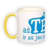 Mug with yellow handle (300 ml)
