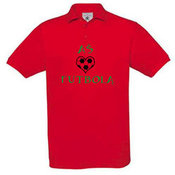 Men's polo shirt with your photos, notes, red