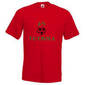 Men's T-shirt with your photos, notes, red