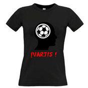 Moteriški marškinėliai su Jūsų nuotrauka, užrašu, juodi