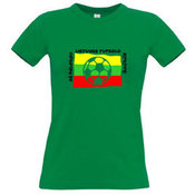 Women's T-shirt with your choice of photos, notes, green