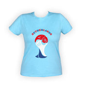 Moteriški marškinėliai su nuotrauka (melsvi)