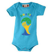 """Baby """"body"""" t-shirt with your photos, notes, bluish"""