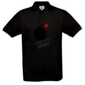 Men's polo shirt with your photos, notes, black