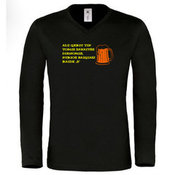 Men's long sleeve T-shirt with your photos, notes, black