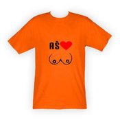 Vyriški marškinėliai su Jūsų nuotrauka, užrašu, oranžiniai