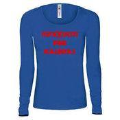 Женские с длинным рукавом футболкa с вашими фотографиями, отмечает, синяя