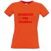 Женские футболки с вашим выбором фотографии, заметки, оранжевый