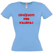 Женские футболки с Вашей фотографией, V-образным вырезом, голубовато