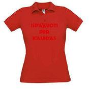 Поло Женская футболка с вашей фотографии, заметки, красный