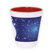 Dviejų spalvų latte puodelis. Raudonas (300 ml)