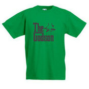 Vaikiški marškinėliai su Jūsų nuotrauka, užrašu, žali