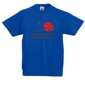 Kids T-shirt with your photos, notes blue