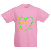Kids T-shirt with your photo, the words, pink