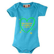 "Baby ""body"" t-shirt with your photos, notes, bluish"