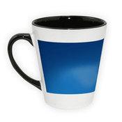 Dviejų spalvų latte puodelis. Juodas (300 ml)