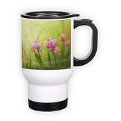 Kelioninis puodelis. Baltas (250 ml)