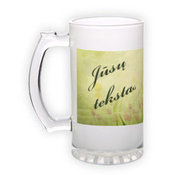 Frosted glass beer mug (500 ml)