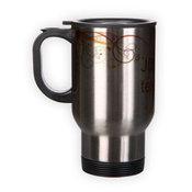 Stainless steel mug. Silver (250 ml)