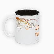 Dviejų spalvų puodelis. Juodas vidus (300 ml)