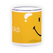 Mug with light blue handle (300 ml)