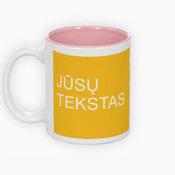 Two colors mug. Pink Inside (300 ml)