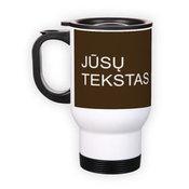 Stainless steel mug. White (250 ml)