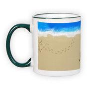 Mug with green handle (300 ml)