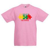 Vaikiški marškinėliai su Jūsų nuotrauka, užrašu, rausvi