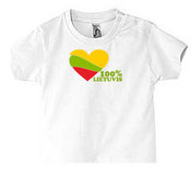 Baby T-shirt with your photos, notes, white