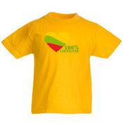 Vaikiški marškinėliai su Jūsų nuotrauka, užrašu, geltoni