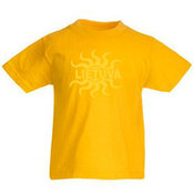 Kids T-shirt with your photo, the words, yellow