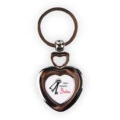 Širdelės formos raktų pakabukas su dėžute