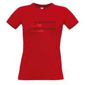 Женские футболки с вашим выбором фотографии, заметки, красный
