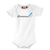 """Body"" T-shirt for your baby with photos, notes, white"