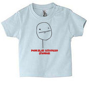 Kūdikių marškinėliai su Jūsų nuotrauka, užrašu, melsvi