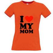 Moteriški marškinėliai su Jūsų nuotrauka, užrašu, oranžiniai