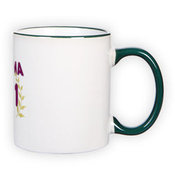 Mug with green handle (300 ml)